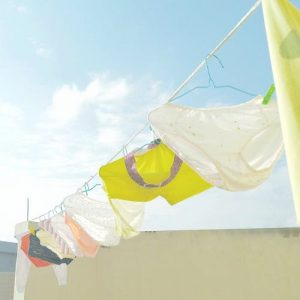 underwear on a laundry line