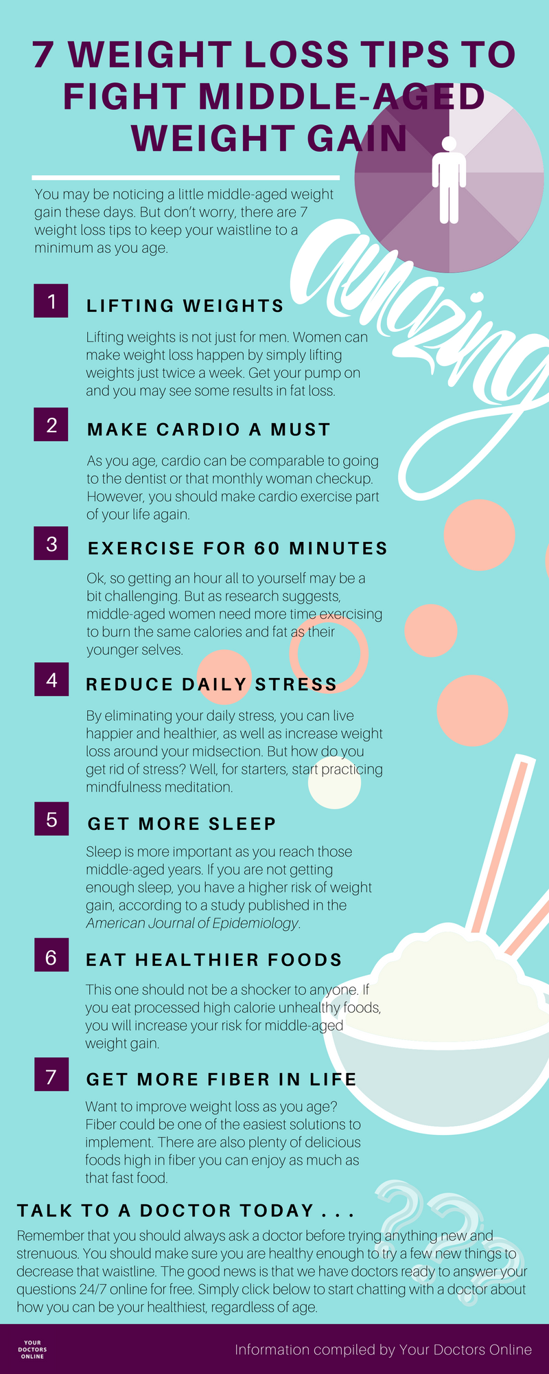 7 Weight Loss Tips to Fight Middle-Aged Weight Gain (infographic)