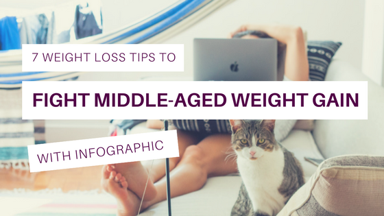 7 Weight Loss Tips to Fight Middle-Aged Weight Gain (With Infographic)