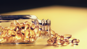 a bottle of vitamin e capsules