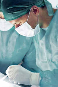 image of a doctor performing a surgery
