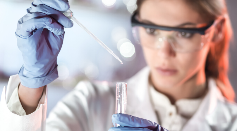 Scientist working on a vaccine