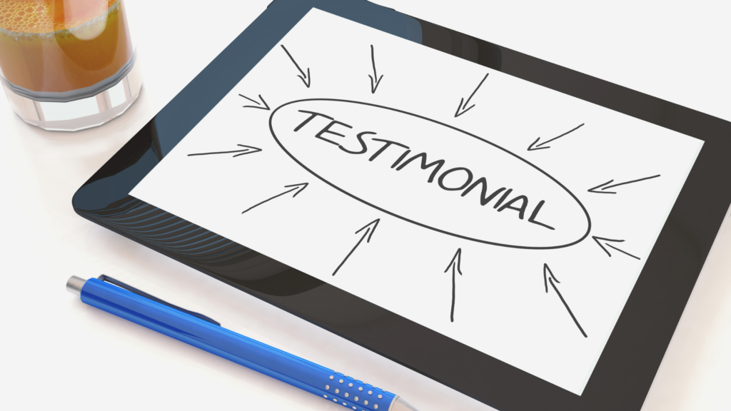 testimonials are a great way to increase patient referrals