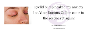 Eyelid bump doctor chat