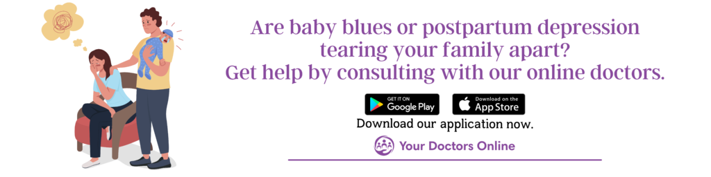 Baby blues and postpartum depression online doctor